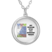 Just Expressing Myself With Sedimentary Thoughts Round Pendant Necklace
