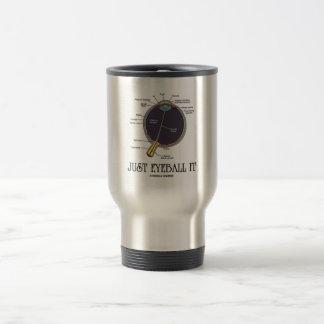 Just Eyeball It (Eye Anatomy Approximation Saying) 15 Oz Stainless Steel Travel Mug