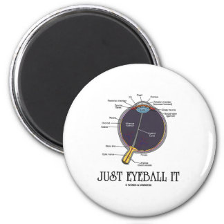 Just Eyeball It (Eye Anatomy Approximation Saying) Magnet