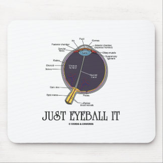 Just Eyeball It (Eye Anatomy Approximation Saying) Mouse Pad
