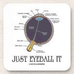 Just Eyeball It (Human Eye Anatomy) Beverage Coaster