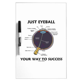 Just Eyeball Your Way To Success (Eye Anatomy) Dry-Erase Board