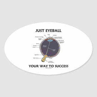 Just Eyeball Your Way To Success (Eye Anatomy) Oval Sticker