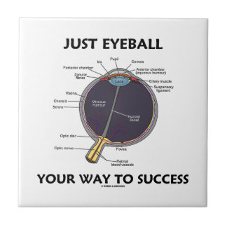 Just Eyeball Your Way To Success (Eye Anatomy) Small Square Tile