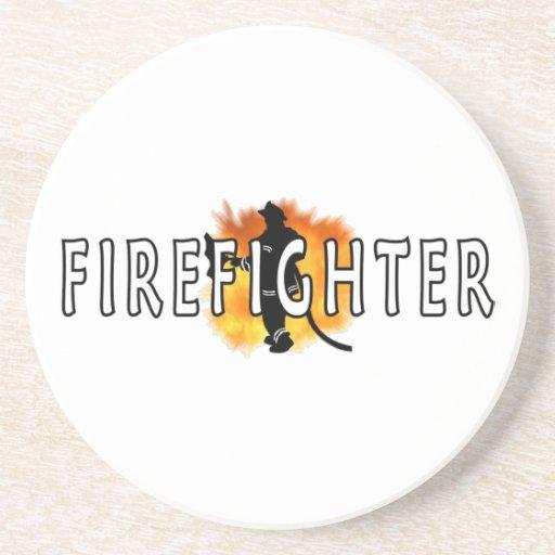 Just Firefighter Beverage Coaster
