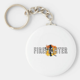 Just Firefighter Key Chain