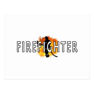 Just Firefighter Postcard