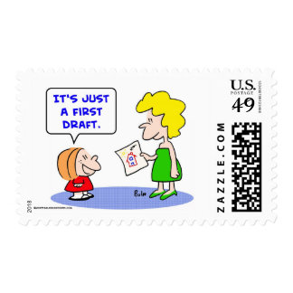 just first draft postage stamps