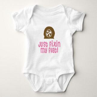 Just Fixin My Flat Girl Baby Bodysuit