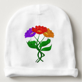 Just Flowers Baby Beanie