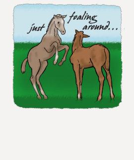 Just Foaling Around Ladies 3/4 Sleeve Raglan (Fitt T-Shirt