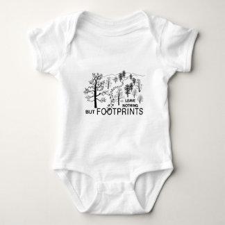 just footprints blk baby bodysuit