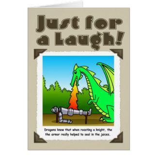 Just for a laugh -dragons greeting card