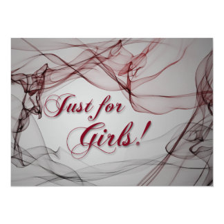 Just for Girls! 5.5x7.5 Paper Invitation Card