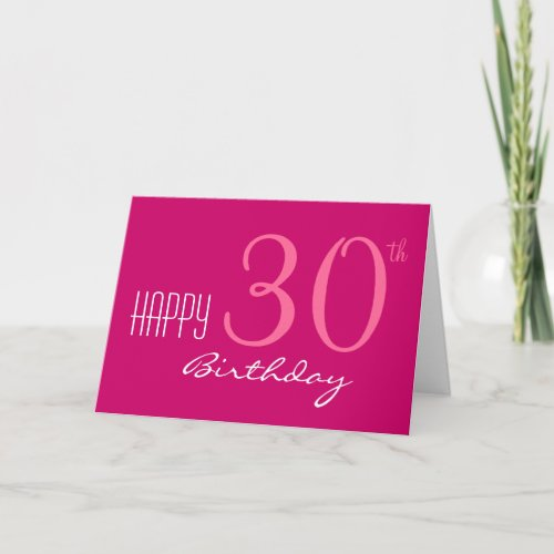 Just for Her 30th Birthday Card