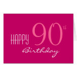 Just for Her 90th Birthday Greeting Card