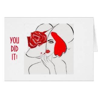 """JUST FOR """"HER""""-HAPPY FOR YOU-YOU DID IT! CARD"""