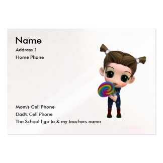 Just for Kids Business Card Template