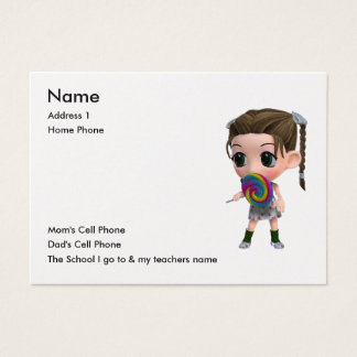 Just for Kids Business Card
