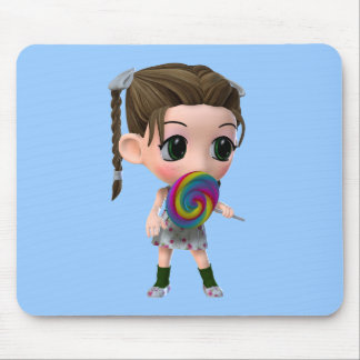Just for Kids Lollipop Girl Mouse Pad