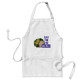 'just for the halibut' humorous parody Apron