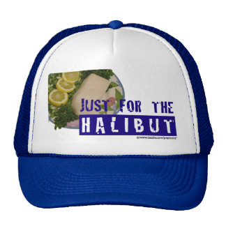 'just for the halibut' humorous parody Hat