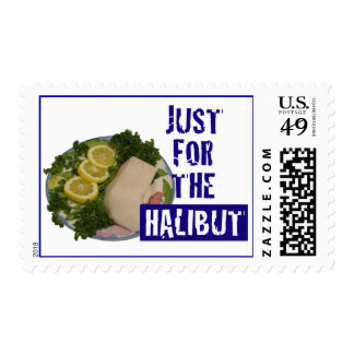 'just for the halibut' humorous parody Postage