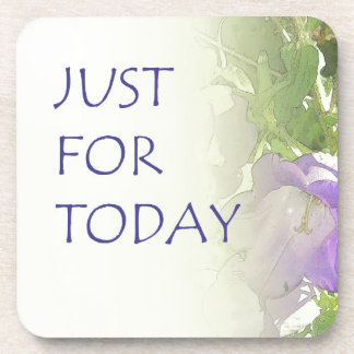 Just For Today Bell Flowers Beverage Coaster