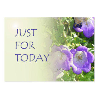 Just For Today Bell Flowers Business Card