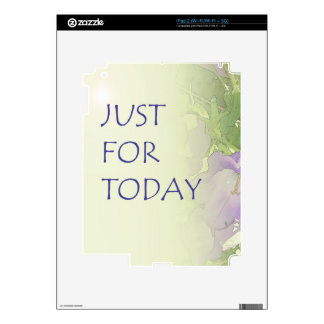 Just For Today Bell Flowers Decal For The iPad 2