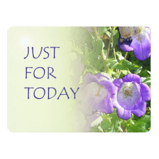 Just For Today Bell Flowers 6.5x8.75 Paper Invitation Card