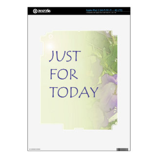Just For Today Bell Flowers iPad 3 Decals