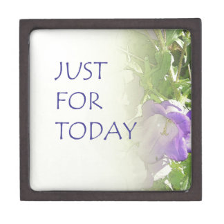 Just For Today Bell Flowers Keepsake Box