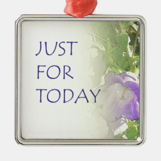 Just For Today Bell Flowers Metal Ornament