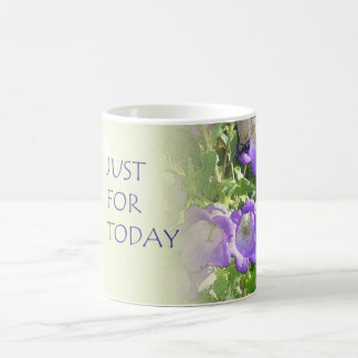 Just For Today Bell Flowers Classic White Coffee Mug