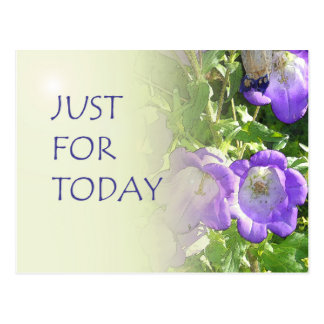 Just For Today Bell Flowers Postcard