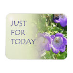 Just For Today Bell Flowers Rectangular Magnets