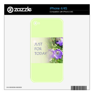 Just For Today Bell Flowers Skin For The iPhone 4S