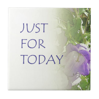 Just For Today Bell Flowers Tile