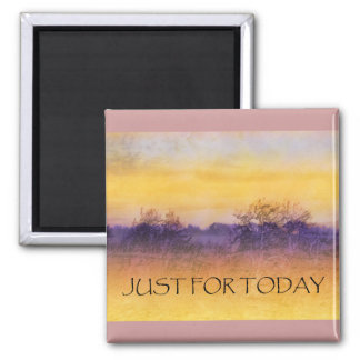 Just for Today Field 2 Inch Square Magnet