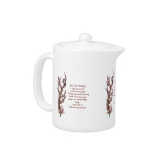 Just For Today Flowering Tree Inspirational Teapot