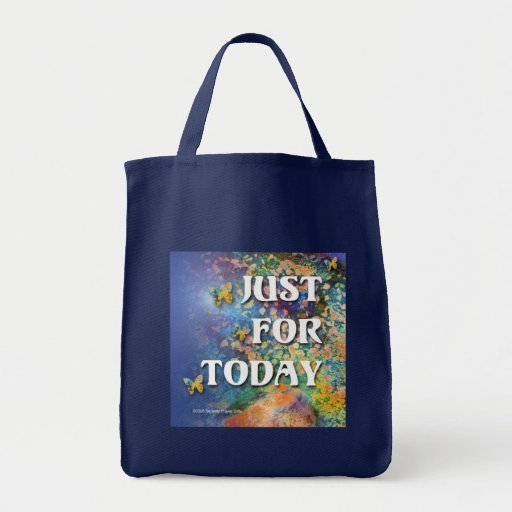 Just for Today Flowers and Rocks Bag