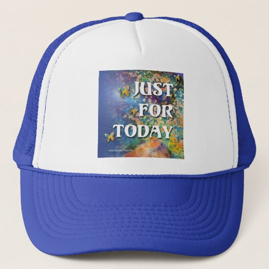 Just for Today Flowers and Rocks Trucker Hat