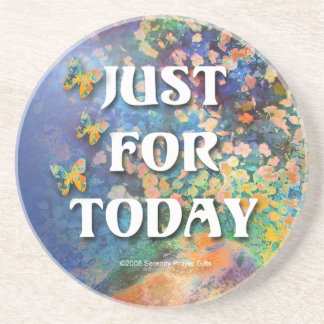 Just for Today Flowers & Rocks Coaster