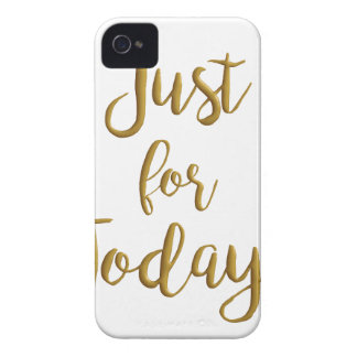 Just For Today gold quote AA NA 12 step recovery iPhone 4 Case