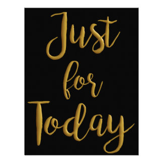 Just For Today gold quote AA NA 12 step recovery Letterhead