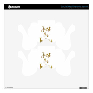 Just For Today gold quote AA NA 12 step recovery Skin For PS3 Controller