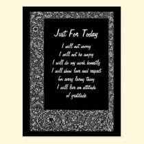 Just For Today Inspirational Postcard