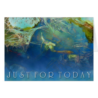 Just For Today Koi Pond Card