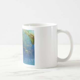 Just for Today Koi Pond Classic White Coffee Mug